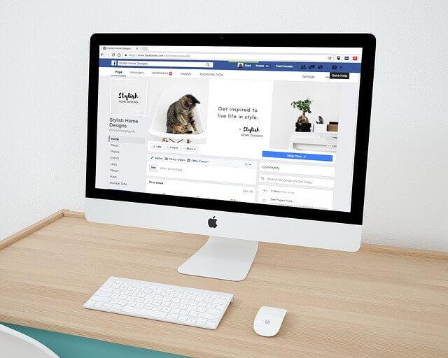 Publicité Facebook.